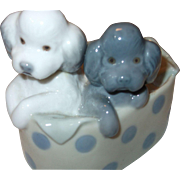 Lladro 2 Poodle Puppies - Retired!