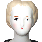 China Head Doll with Unusual Blonde Hair