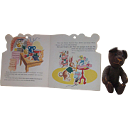 1940 Book Brown Bear's Surprise! and Vintage Jointed Mohair Brown Teddy Bear!