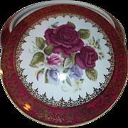 Limoge Floral Trivet Box
