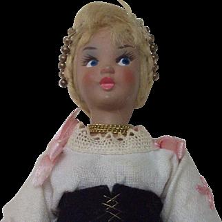 "A Lenci 6.5"" doll and her friend, an Eros doll 5.75"""
