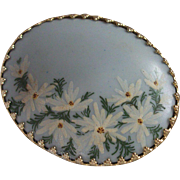 A Vintage Hand Painted Porcelain Pin!