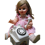 1962 Effanbee Belle Telle with Telephone and Box!