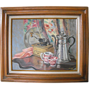 Wonderful Antique Still Life Oil Painting By Philadelphia Artist Alberta Ryan