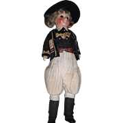 "11"" Antique French SFBJ Closed Mouth Boy Doll, Nicely Dressed!"