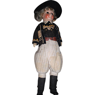 """11"""" Antique French SFBJ Closed Mouth Boy Doll, Nicely Dressed!"""