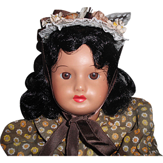 """Sweet 12"""" Antique French S.F.B.J. Antique French Black/Mulatto Doll!"""