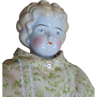 """23"""" Blonde China Doll with Body of Printed Material"""