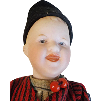"""Antique 8"""" German Character Heubach Doll"""