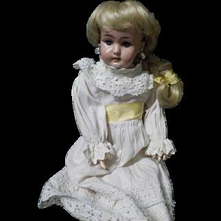 """Antique German S & H Bisque 15"""" Composition 1079 Doll"""