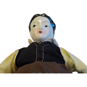 "7"" Porcelain and Cloth Topsy Turvy Doll"