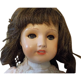 """18"""" antique bisque head composition French Unis France 301 doll"""
