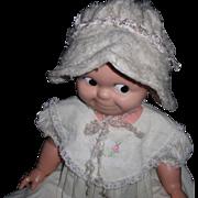 Old Wool Doll Bonnet