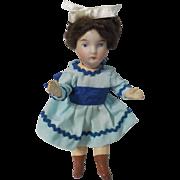 "Antique German 5"" Bisque Socket Head Doll"