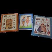 3 Tiny Doll House Decorative Books