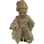 "4"" German All Bisque Doll"