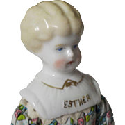 "9.5"" Hertwig Blonde China Head Doll"