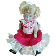 Tiny German All-Bisque Doll