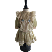 Gorgeous Silk French Dress for a Large Doll