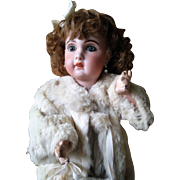 """Antique Jumeau doll mould 1907 size 10 with stamped body """"Medaille d'Or' Paris"""" with talking mechanism"""