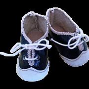 German Doll Shoes (marked: 3 Hermann Kurtz Spielwarenhause Stuttgart)