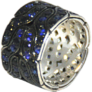 John Hardy Sterling Silver and Sapphire Ring