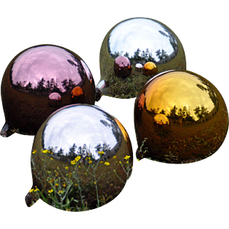 Antique Mercury Glass Garden Gazing Balls