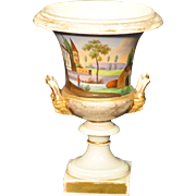 Antique Hand-painted Porcelain Gilt Urn