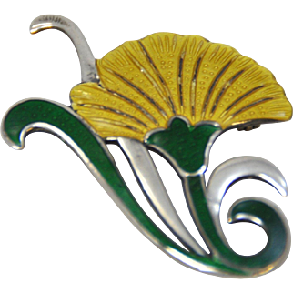Vintage Sterling Silver and Enamel Taxco, Mexico Pin