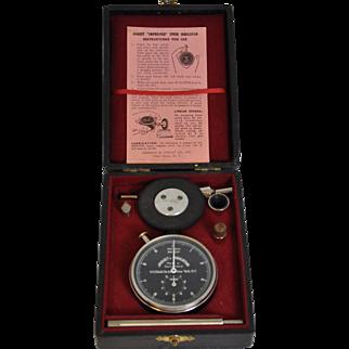 Vintage Jaquet Tachometer Speed Indicator