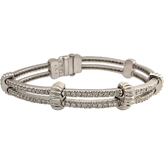 14 Karat White Gold 5CTTW Diamond Bracelet
