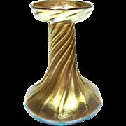 "Antique Circa 1900 Louis Tiffany Studios Favrile Art Glass ""Twist"" Candlestick"