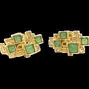 Vintage Gold Tone Panetta Cufflinks
