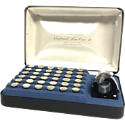 The Franklin Mint Presidential 36 Mini-Coin Set First Edition Sterling Silver