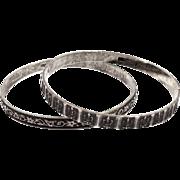 2 Vintage Danecraft Sterling Silver Bangle Bracelets