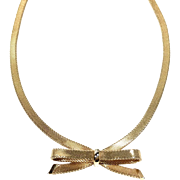 Vintage Necklace Choker Bow Christian Dior Germany
