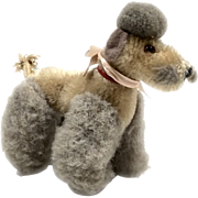 Adorable Vintage STEIFF Poodle Dog Stuffed Animal Toy