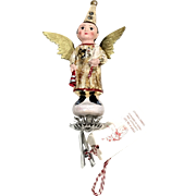 "Debbee Thibault German ""Snow Fairy Doll"" Glass Christmas Ornament"