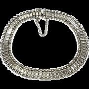 Art Deco WEISS Crystal Rhinestone Choker Necklace
