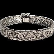 Vintage MILOR Sterling Silver Italy Mesh Bracelet
