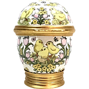 "Enameled Chick ""CARTIER"" Egg Trinket Box"