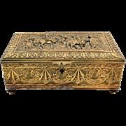 Antique Ovington New York French Bronze Jewelry Box