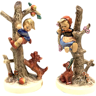 """""""Out Of Danger"""" Pair Of Hummels Made By Goebel In W. Germany Figurines"""