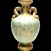 Antique Royal Worcester Mold #1430 Double Handled Pedestal Vase