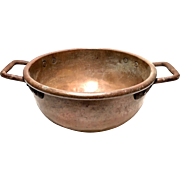 Antique Copper Pot For Candy Making With Dovetail