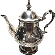 "Antique 1869 Coin Silver ""Chandless"" Ornate Tea Pot"