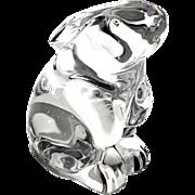 Vintage Hallmarked BACCARAT French Crystal Rabbit Figure