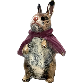 Austria Cold Painted Bronze Miniature Beatrix Potter Rabbit