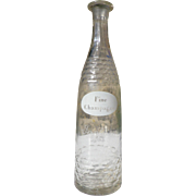 "French ""Fine Champagne"" Cognac bottle Circa 1900"