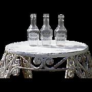 Set of 3 French Spirit & Liqueur Bottles Circa 1930